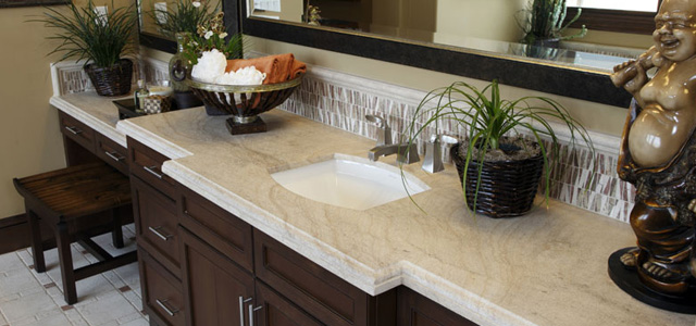 material considerations for bathroom vanity tops | granite