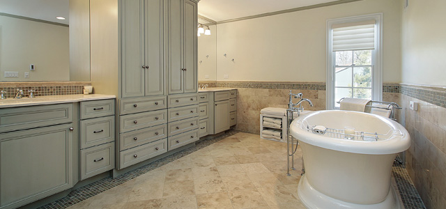How To Decorate Your Bathroom Compliment Granite Tile Flooring